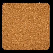 角丸型のコルクコースターのサイズ詳細