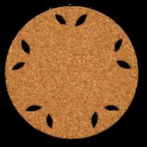 丸型のはなびらコルクコースターのサイズ詳細