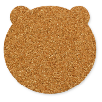 くまさん型のコルクコースターのサイズ詳細
