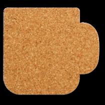 マグカップ型のコルクコースターのサイズ詳細