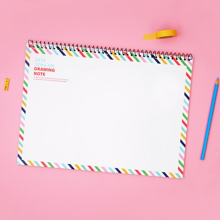 一般画用紙タイプのスケッチブック制作