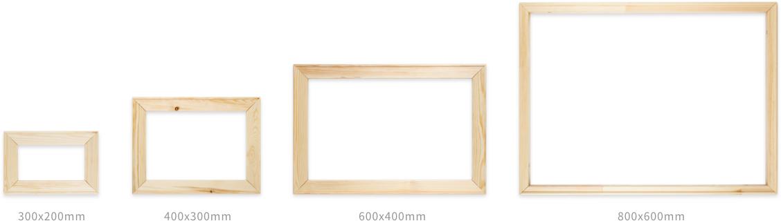 木製パネルのサイズ案内のイメージです